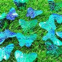Sequins, Teal, 23mm x 30mm, 29 pieces, 5g, Butterfly shape, Sequins are shiny, [CZP609]